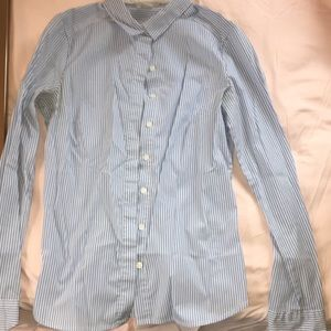 Blue and White Button Down H&M